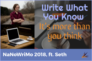 NaNoWriMo 2018: Write What You Know
