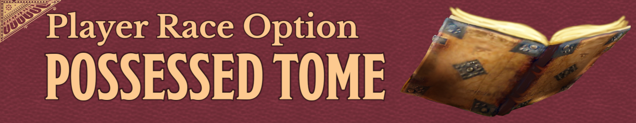 Cover- Possessed Tome Player Race Option