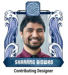 Sharang's smiling face